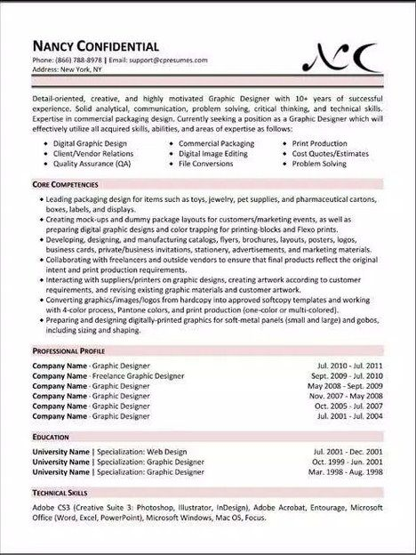 Best Resumes Examples Best Resume Template Forbes  Simple Resume Template  Pinterest