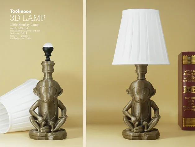 Little Monkey Lamp By Toolmoon Thingiverse Lamp 3d Lamp Novelty Lamp