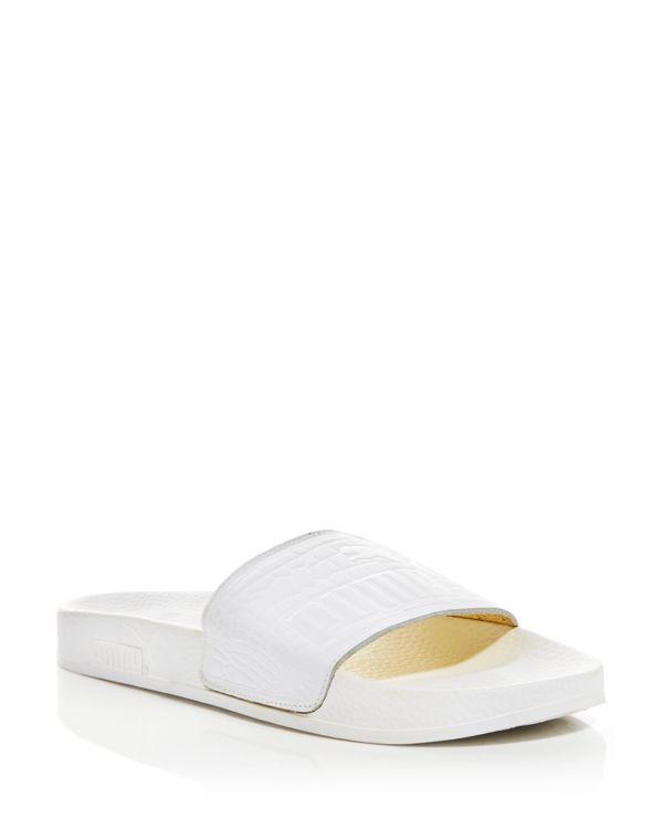 661d0b5ecacb0 Puma Slide Sandals - Vashtie x Puma Croc-Embossed Footbed