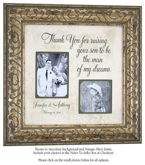 Personalized Picture Frame, Wedding Gift For Parents with Thank You ...