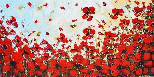 Original art painting modern red poppies poppy flowers red original art painting modern red poppies poppy flowers red white mightylinksfo