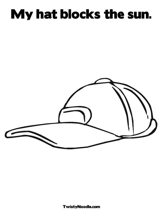 Sun Hat Colouring Pages