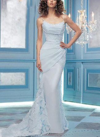 Baby blue wedding dress sensationnel mydreamwedding for Blue dresses to wear to a wedding