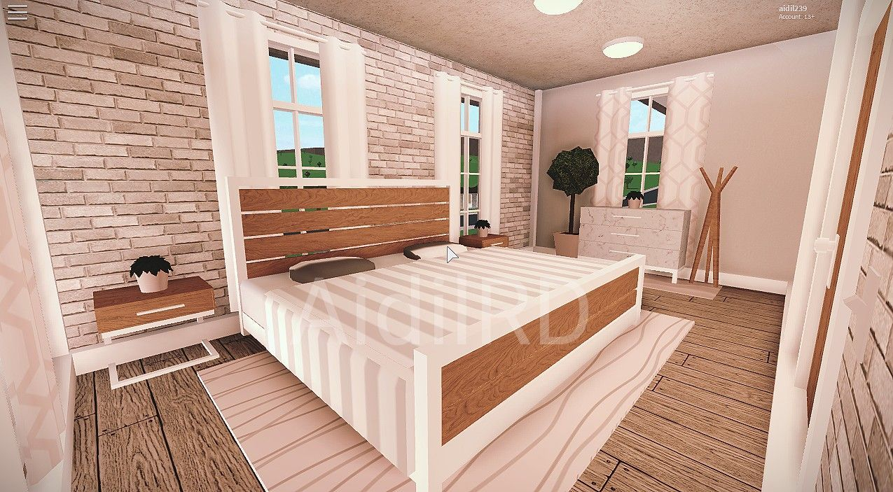 Pin By Stephanie Ashburn On Blush Room Ideas For Welcome To Bloxburg 3 In 2020 Tiny House Bedroom Luxury House Plans Tiny House Layout