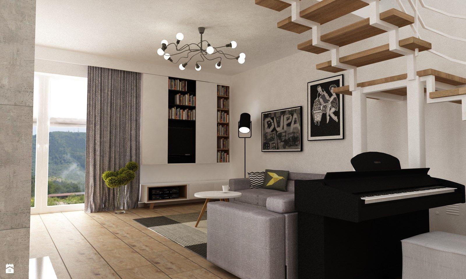 Salon styl Skandynawski - zdjęcie od Grafika i Projekt ...