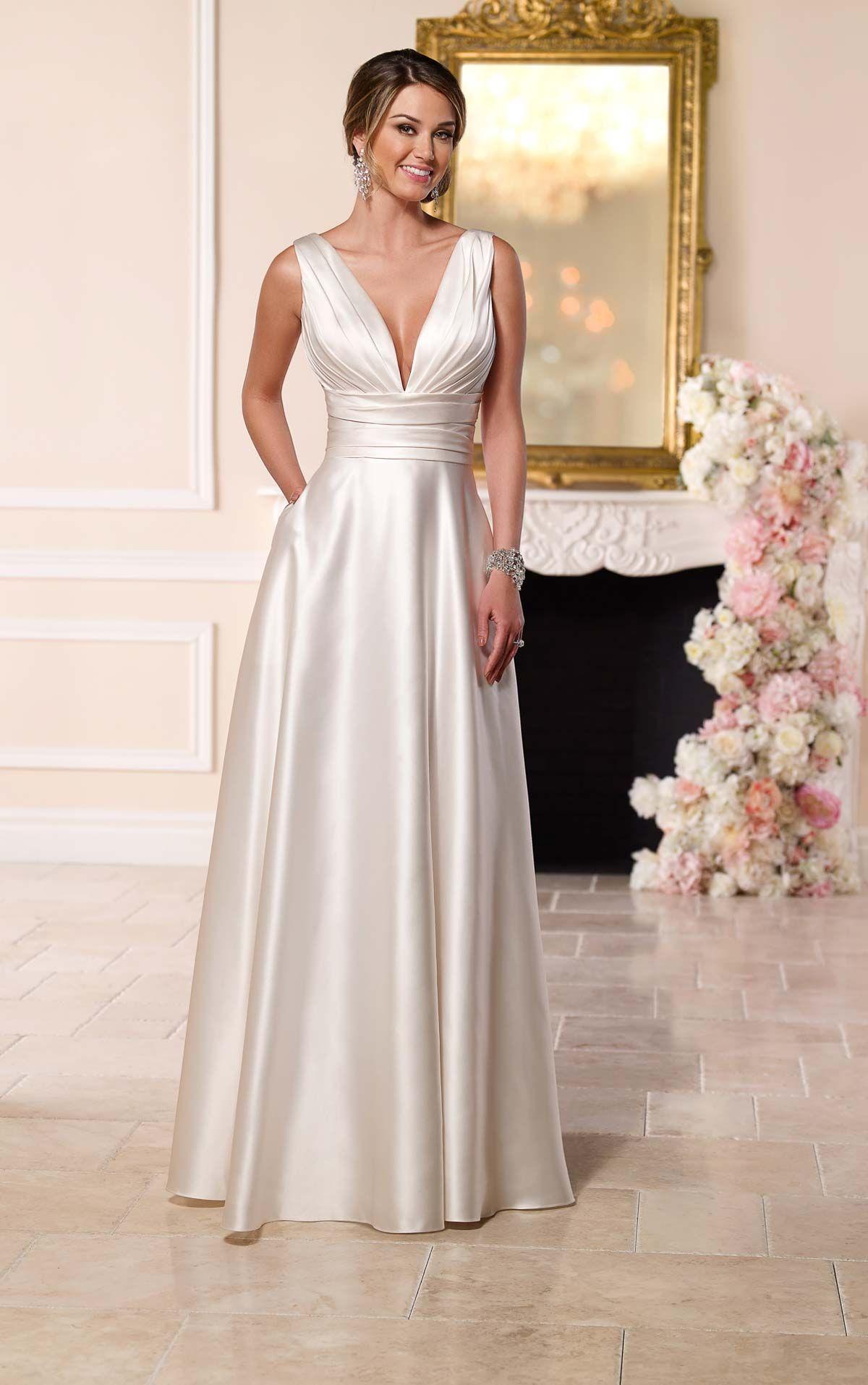 Luxe Satin Wedding Dress | Wedding dresses | Pinterest | Stella york ...