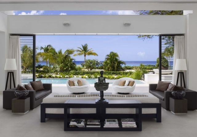 Design Wohnzimmer Terrasse Outdoor Relaxmöbel Ideen Barbados Luxus Villa