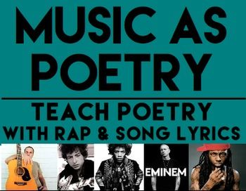 MUSIC AS POETRY: Teach poetry with rap & song lyrics ...