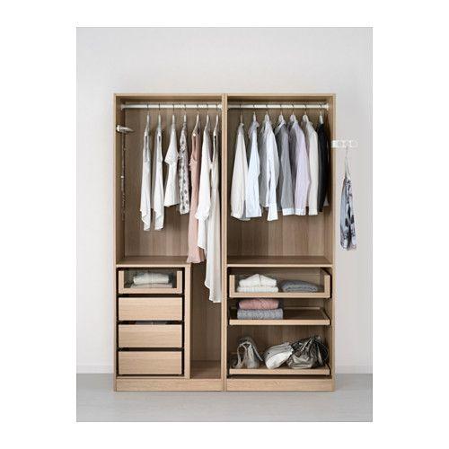 PAX Wardrobe Black-brown auli ilseng 200x66x201 cm Pax wardrobe - armoire ikea porte coulissante