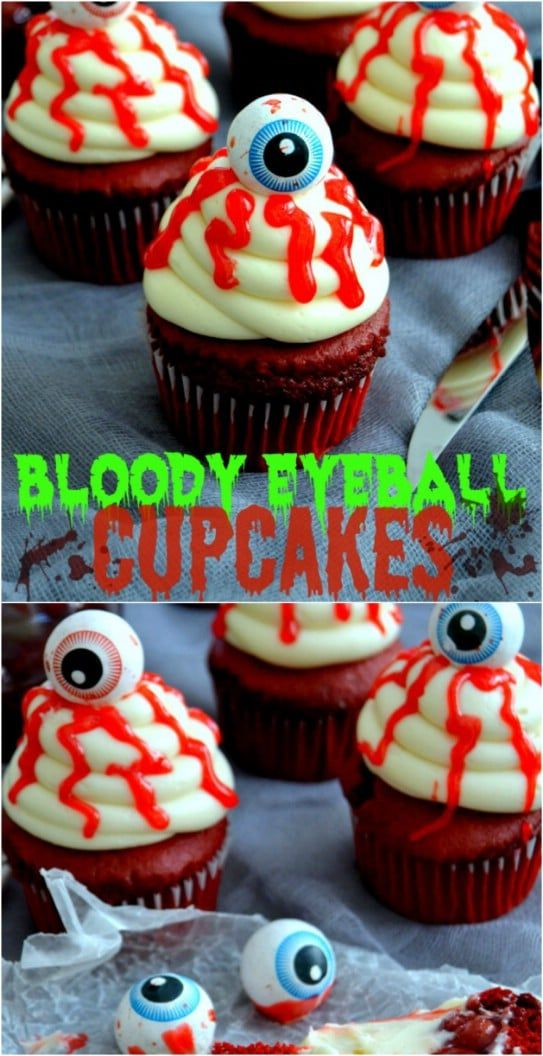 30 Ghoulish Halloween Cupcakes That Add A Spooky Touch To Your Party #halloweencupcakes