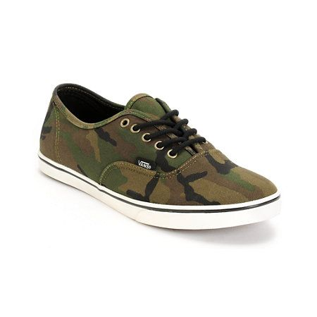 c2f4a390721204 The Vans Authentic Lo Pro Olive Camo Print shoes for girls is a classic and  stealth look all rolled into one.