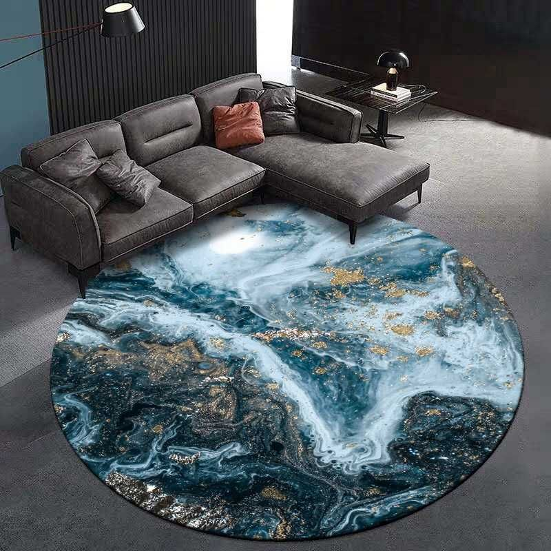 Large Round Area Rugs Abstract Oil Painting Aerial Photography Bedroom Living Room Home Decor Circle Floor Mat Anti Slip Tapete Aliexpress In 2020 Round Carpet Living Room Rugs In