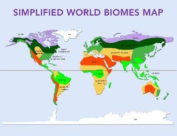 World Biomes Map and Quiz   Biomes, Map, World