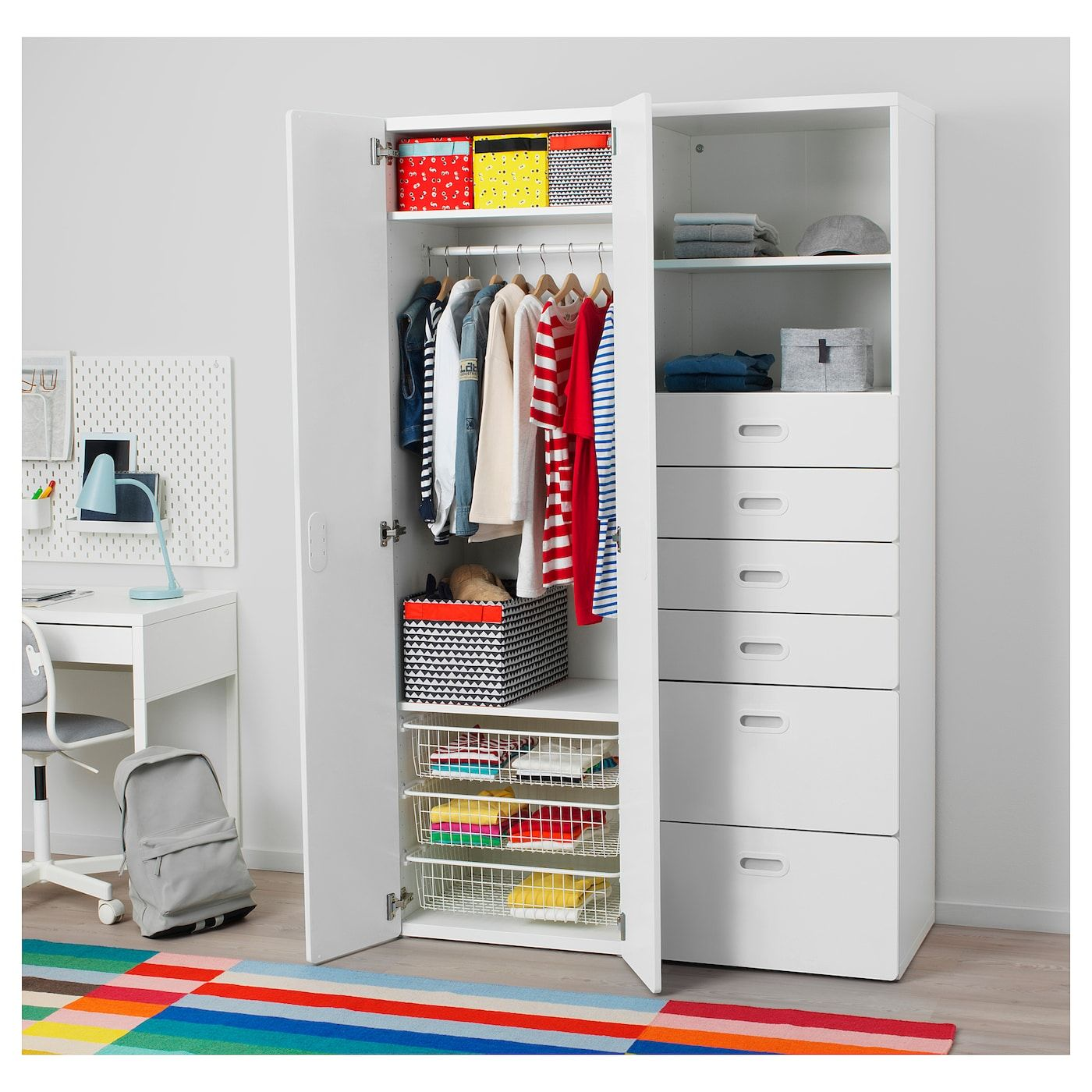 Stuva Fritids Kleiderschrank Weiß Weiß Ikea Kleiderschrank Kinderzimmer Kleiderschrank Weiss Ikea Lagerung