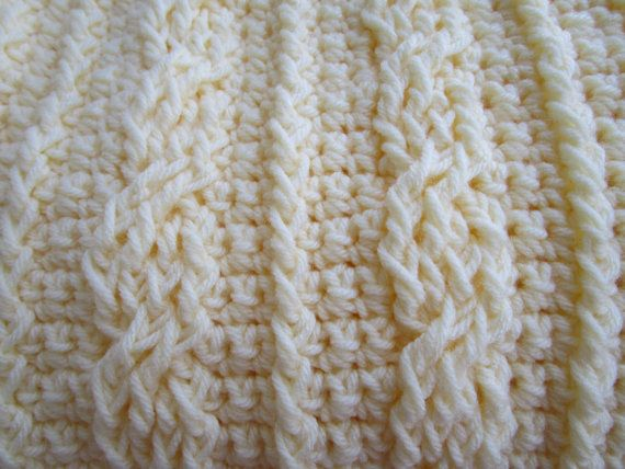 Crochet Cables Stitch Blanket Pattern Afghan Pattern Crochet