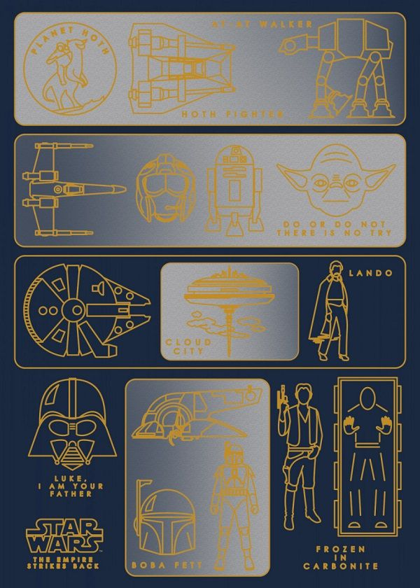 Official Star Wars Diagrams Objectives And Motivations The Empire Strikes Back Path #Displate explore… | Displate thumbnail