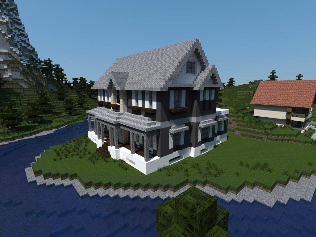 Minecraft Gray House Love This Minecraft Architecture Minecraft Construction Minecraft Plans