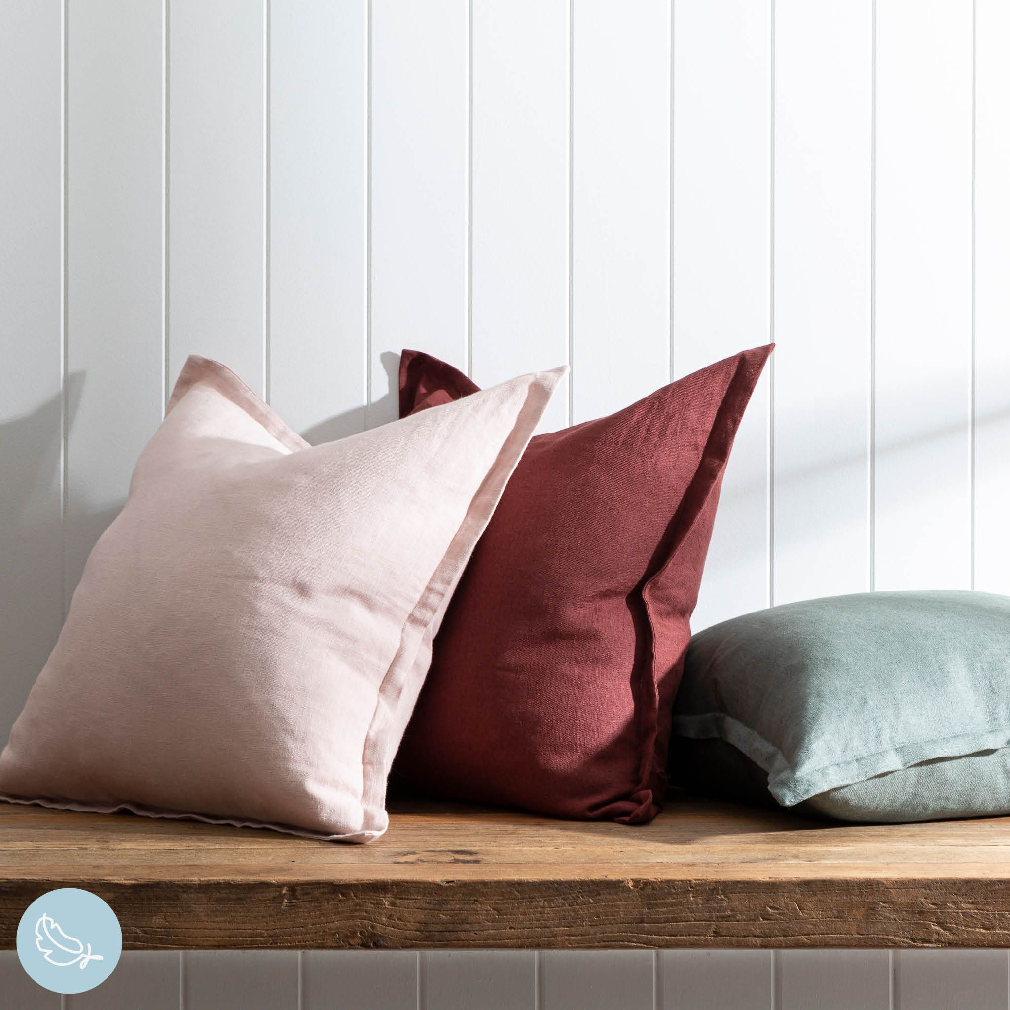 Your favourite cushions this season are guaranteed to be our stunning Sahara Linen Cushions. Plush and luxurious, these are a brilliant option for your home! #PillowTalkAustralia #ForTheLoveOfComfort #Homestyling #cushions #livingstyle #homestyle #homedecor