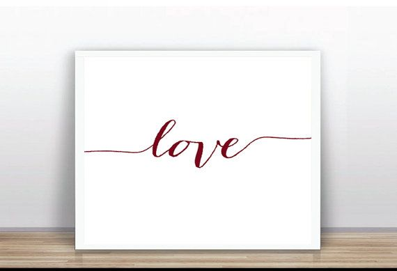Love poster printable Instant Download LOVE poster por ByYolanda
