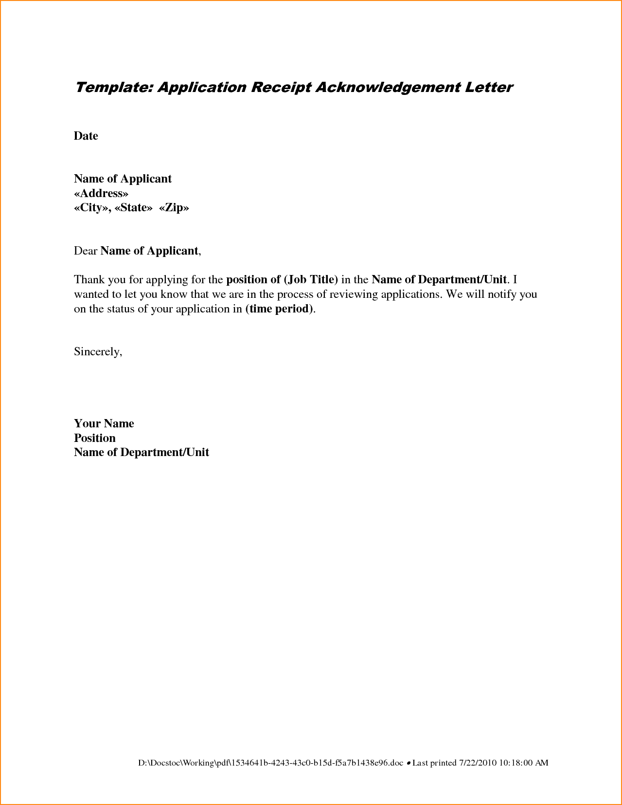 Application Letter Sample Biology Teacher Academic Cover Letters