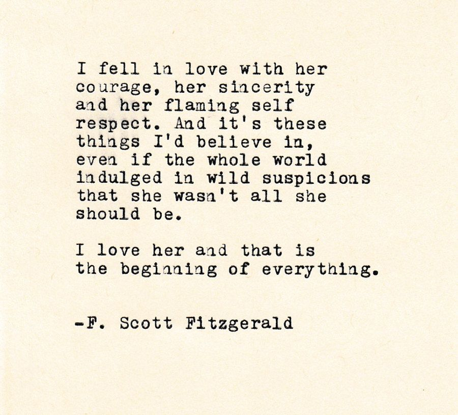 F Stock Quote Love Quote The Fscott Fitzgerald Made On Typewritertypewriter