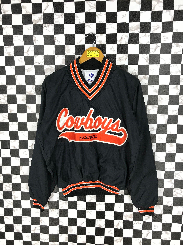 ccdd837e COWBOYS BASEBALL Jacket Pullover Small Black Vintage 90's Mlb Major League  Baseball Varsity Dallas Cowboys Pullover Training Wear Size S by  JunkDeluxeRetro ...