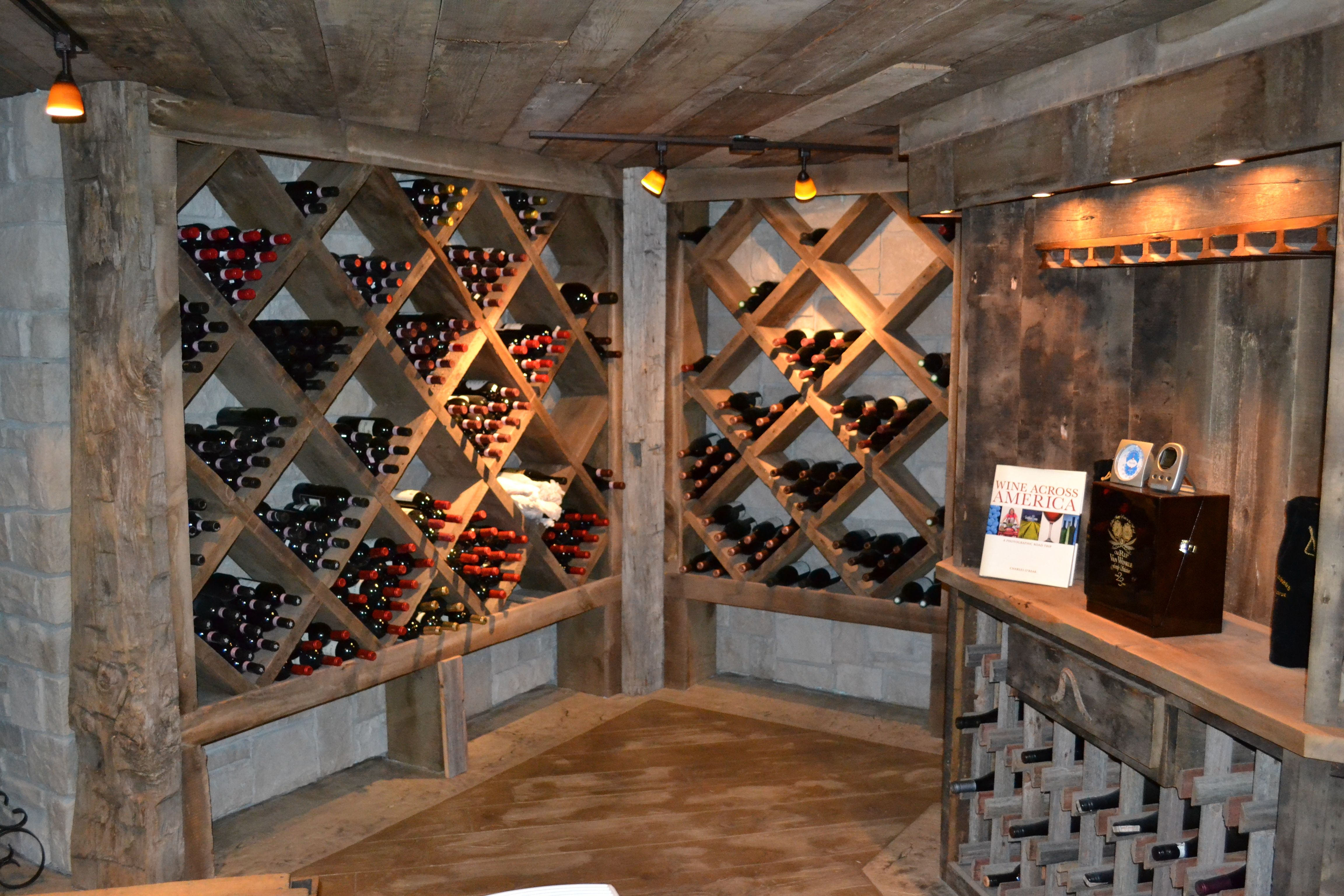 I Love The Rustic Wood Look Of This Awesome Wine Cellar