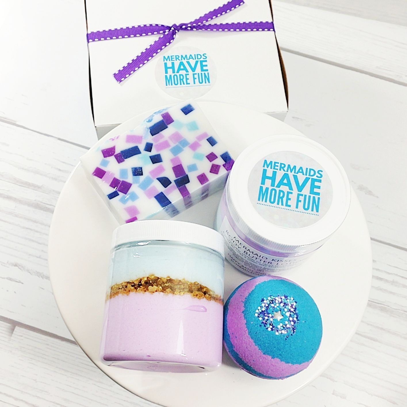 Let S Be Mermaids Bath Gift Set For Mermaids Sugarscrub