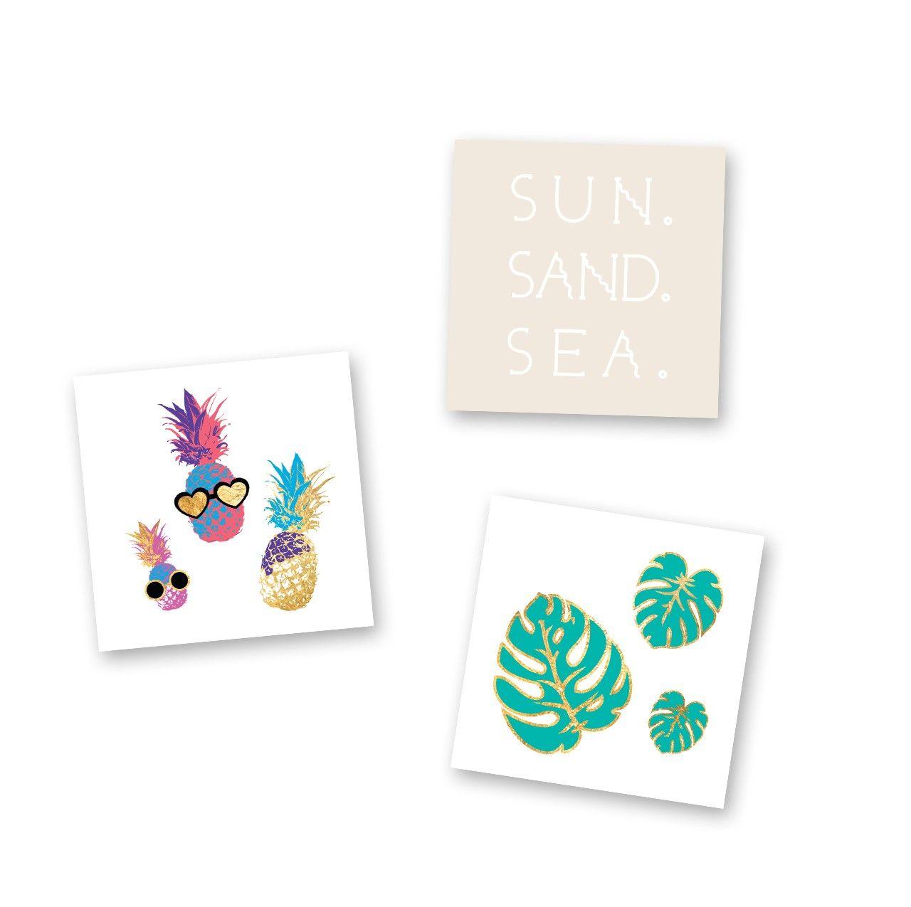Flash Tattoos Paradise Vibes Mini Variety Set - Sand ...
