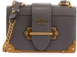 5822451e14b9 Prada Cahier Small Leather Trunk Crossbody Bag  handbag  tote  purse  aff