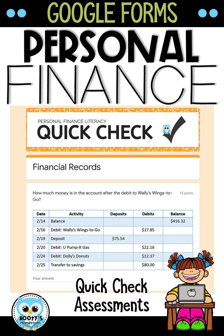 Personal Finance Literacy Using Google Forms Hooty S Homeroom Finance Literacy Personal Finance Personal Financial Literacy [ 1152 x 768 Pixel ]