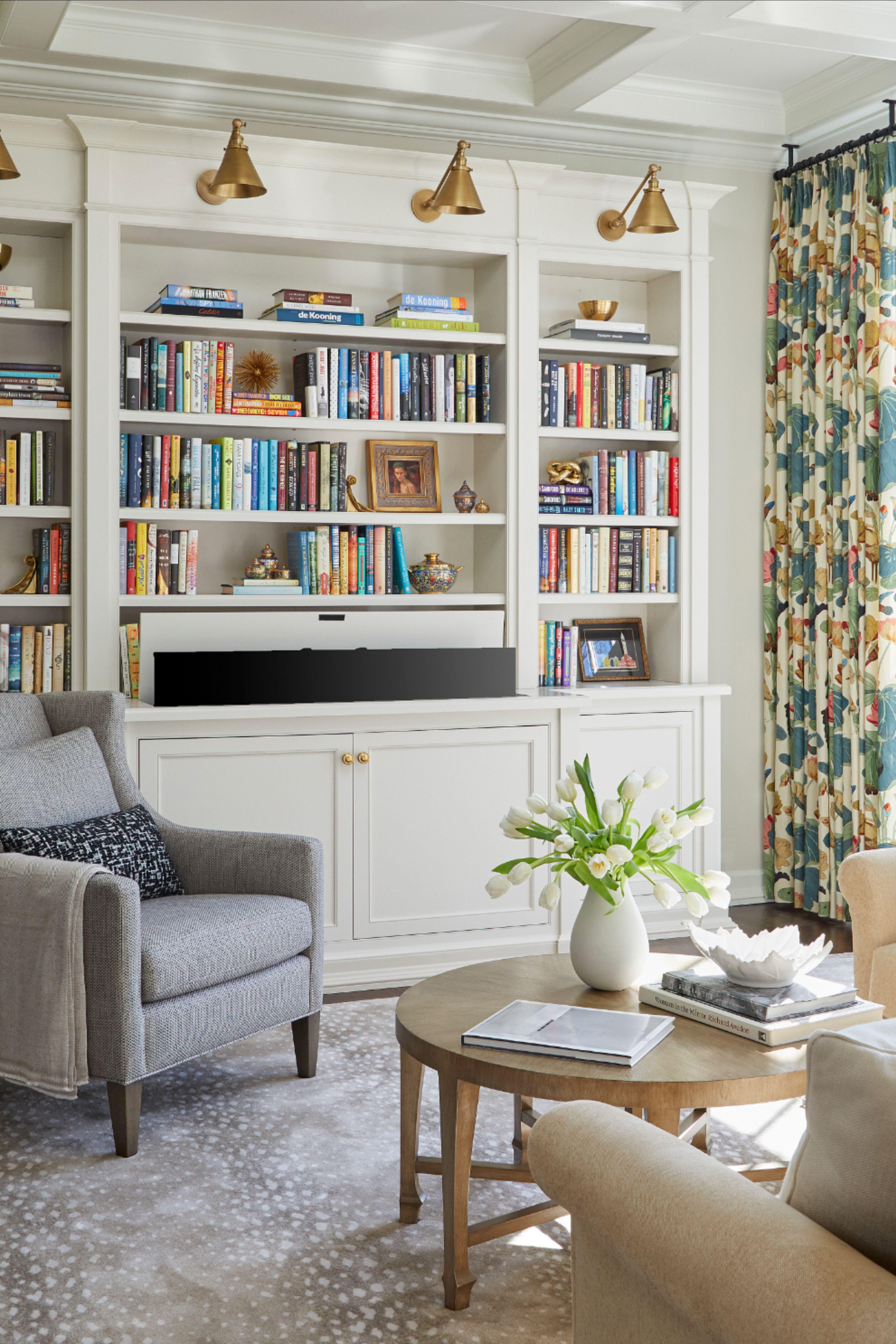 Tips For Styling Statement Bookshelves Bookshelves In Living Room Lounge Room Styling Apartment Living Room Beautiful living room bookshelf