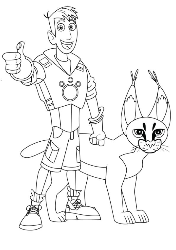 Print Coloring Image Discover More Ideas About Wild Kratts Kratts Printable Coloring Pages