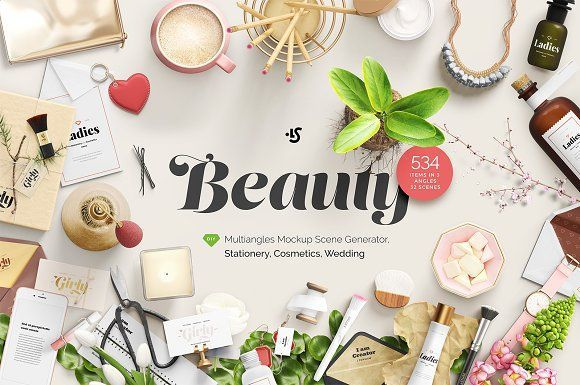 beauty stationery wedding cosme by ls on creativemarket