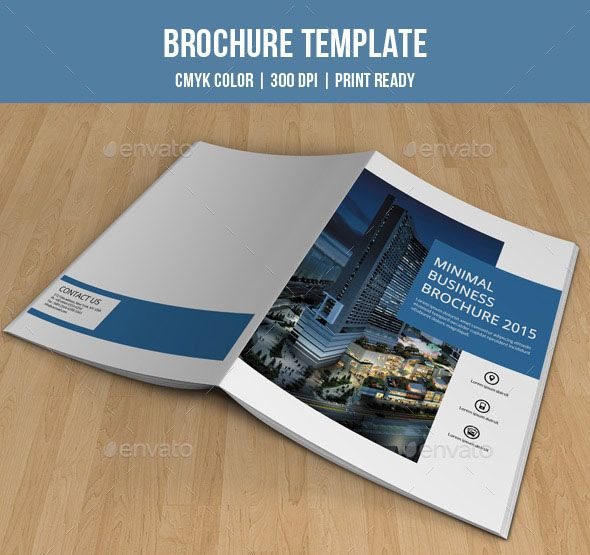 Use this Corporate Bi-fold Brochure design when you need promotion
