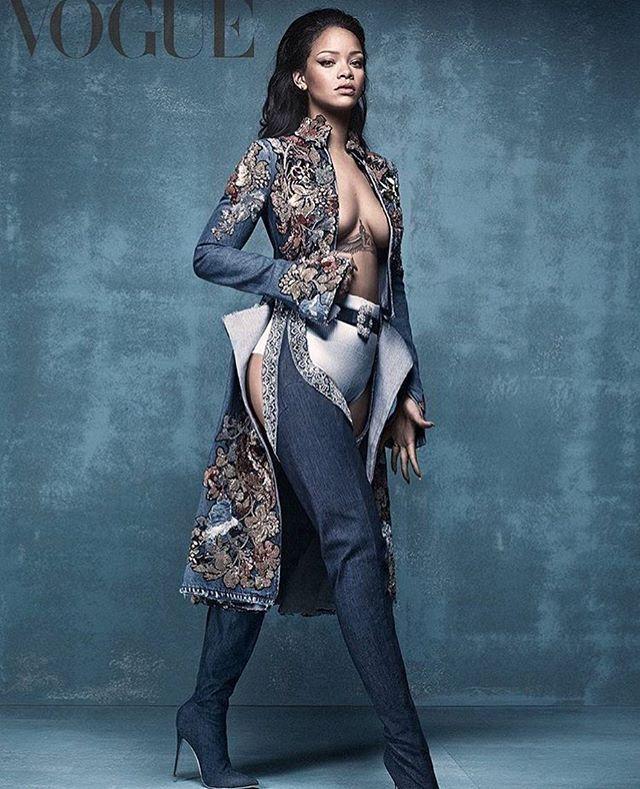 Yaaasss Badgyal Desnudo Rihanna Moda Y Revista Vogue