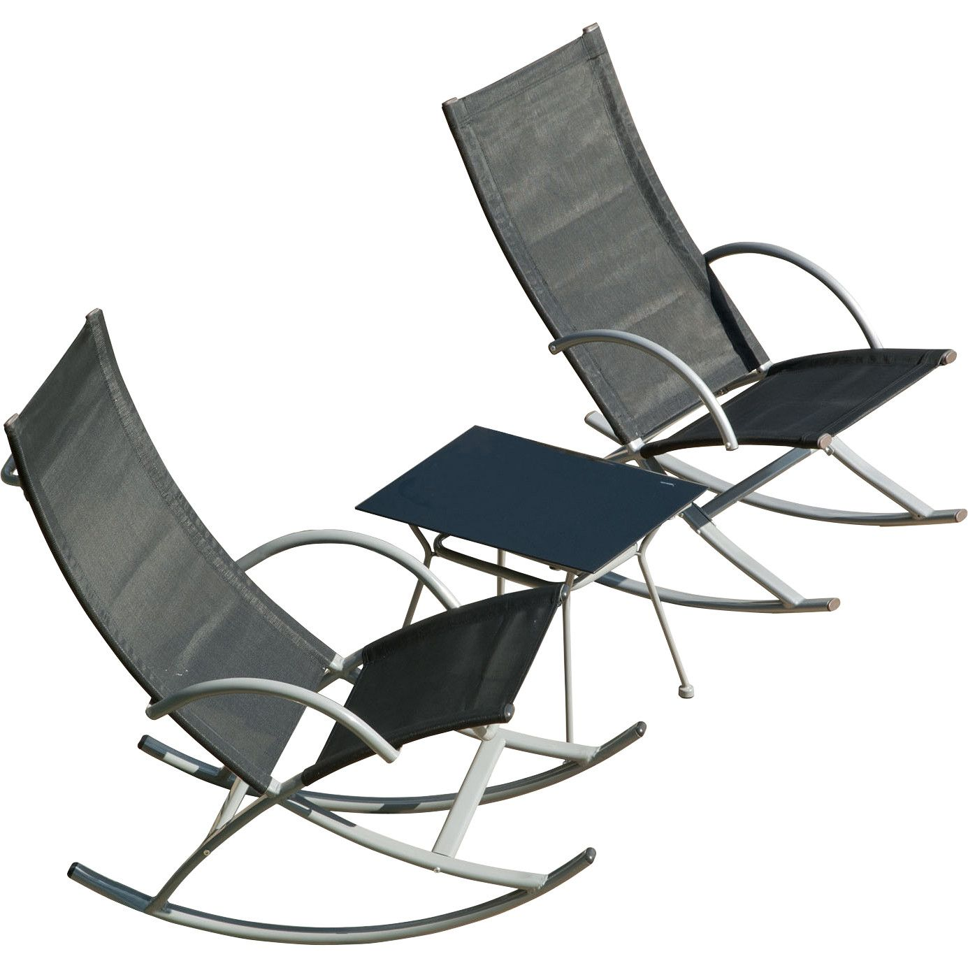 SunTime Outdoor Living 3 Piece Rocking Chair Seating Group | Terrace ...