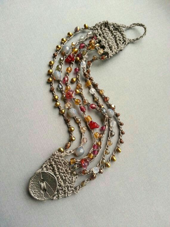 Pin Von Anja Van Gée Auf Haken Gehaakte Juwelen Pinterest