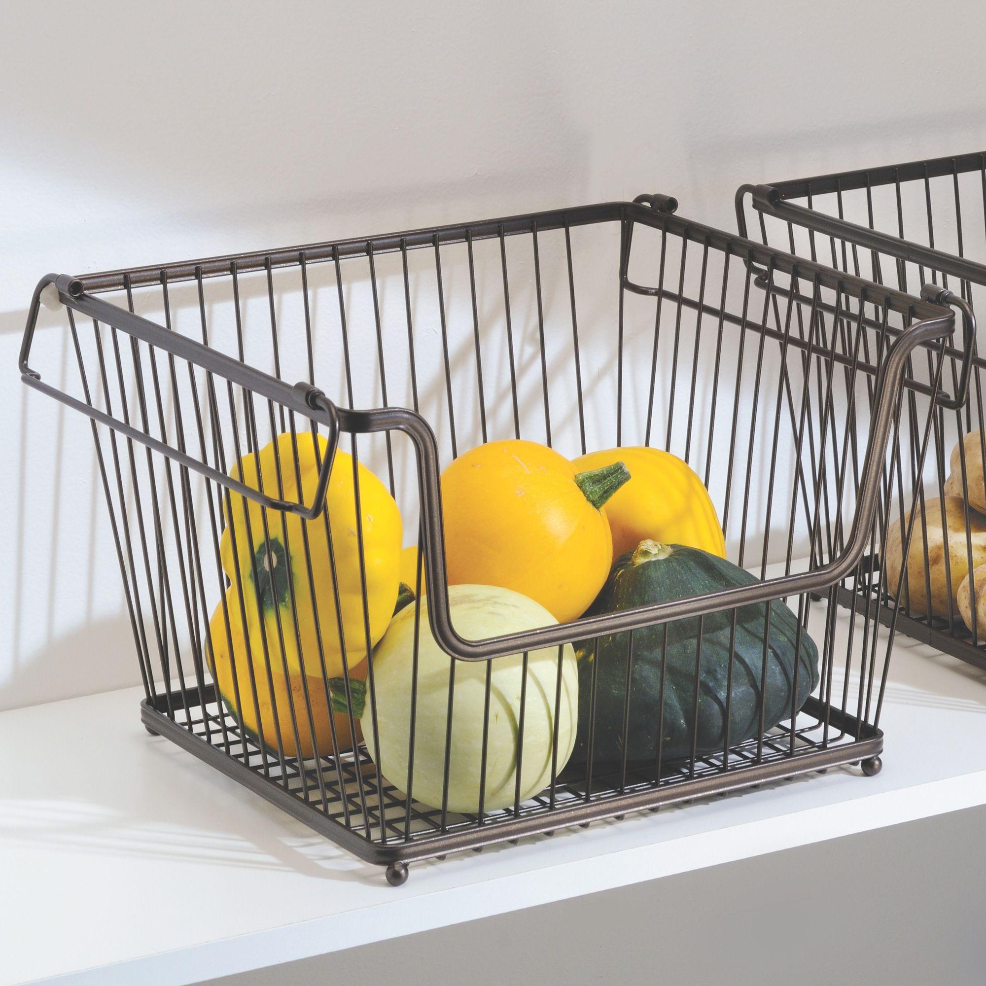 Rangement Fruits Et Légumes: Bac De Rangement Empilable En Acier Interdesign