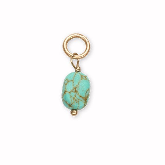 Natura Charm: Thirty-One Gifts - Natural Stone Charm - Turquoise