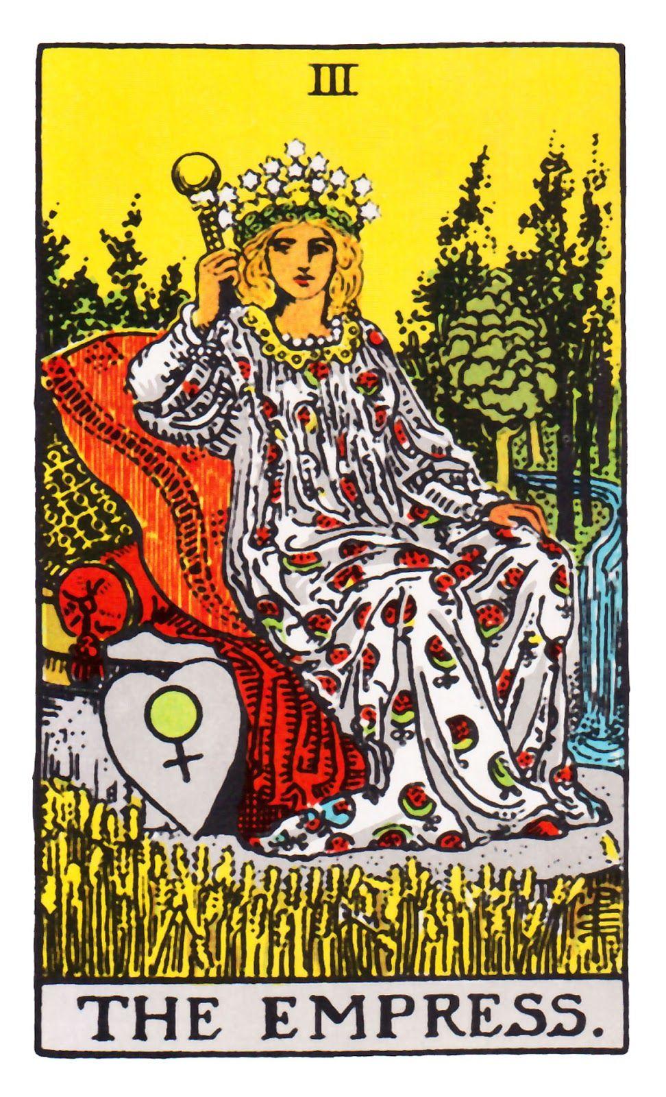 Empress ~ Rider Waite | Empress tarot, Empress tarot card, Rider waite tarot decks