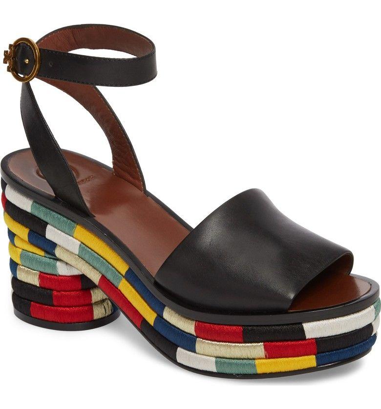 e9498c446d03 Main Image - Tory Burch Camilla Embroidered Platform Sandal (Women ...