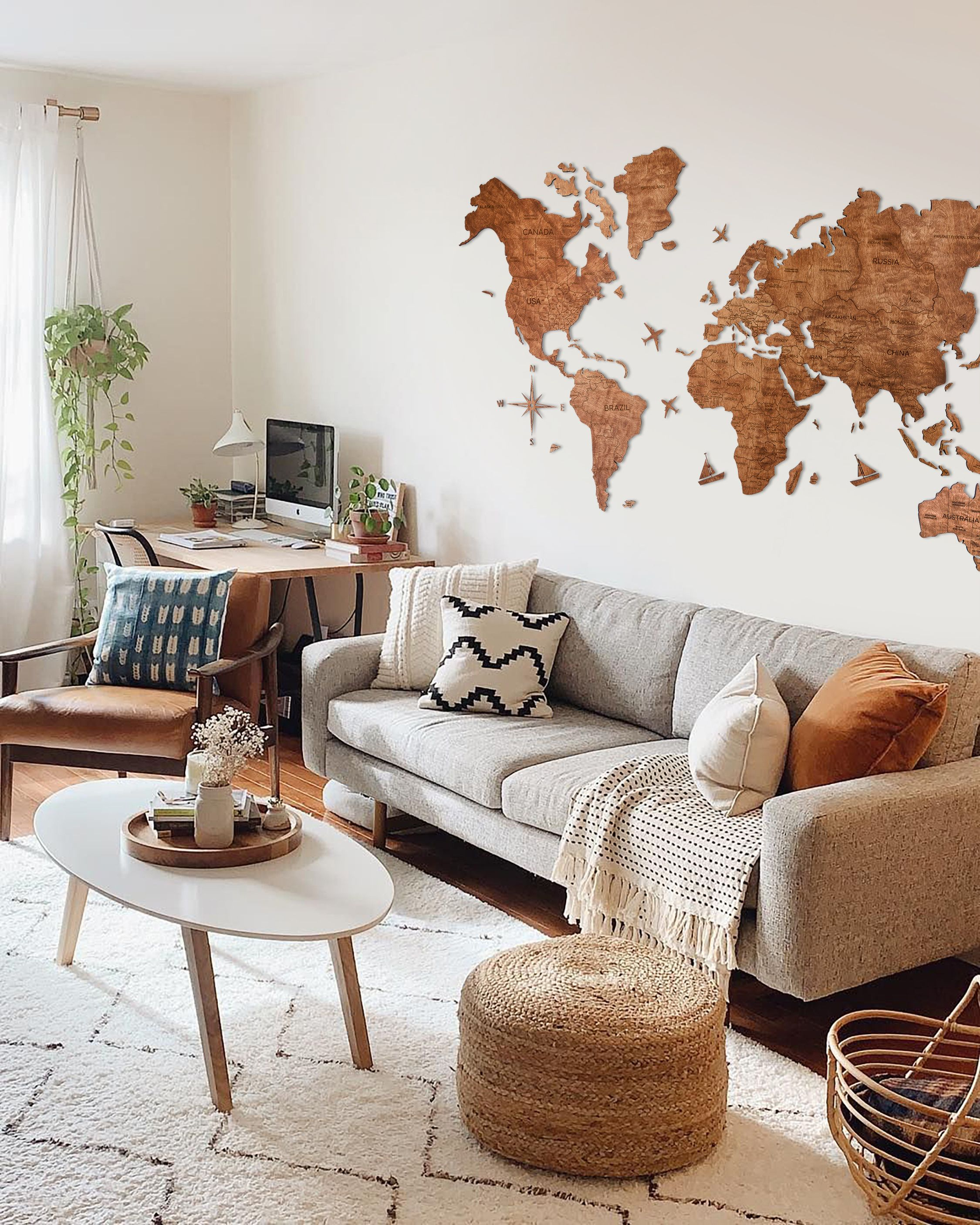 3d World Map Wall Art Home Decor Wall Decor 3d Wooden Map Enjoy The Wood Weltkarte Holz In 2020 World Map Wall Art Decor Wall Decor