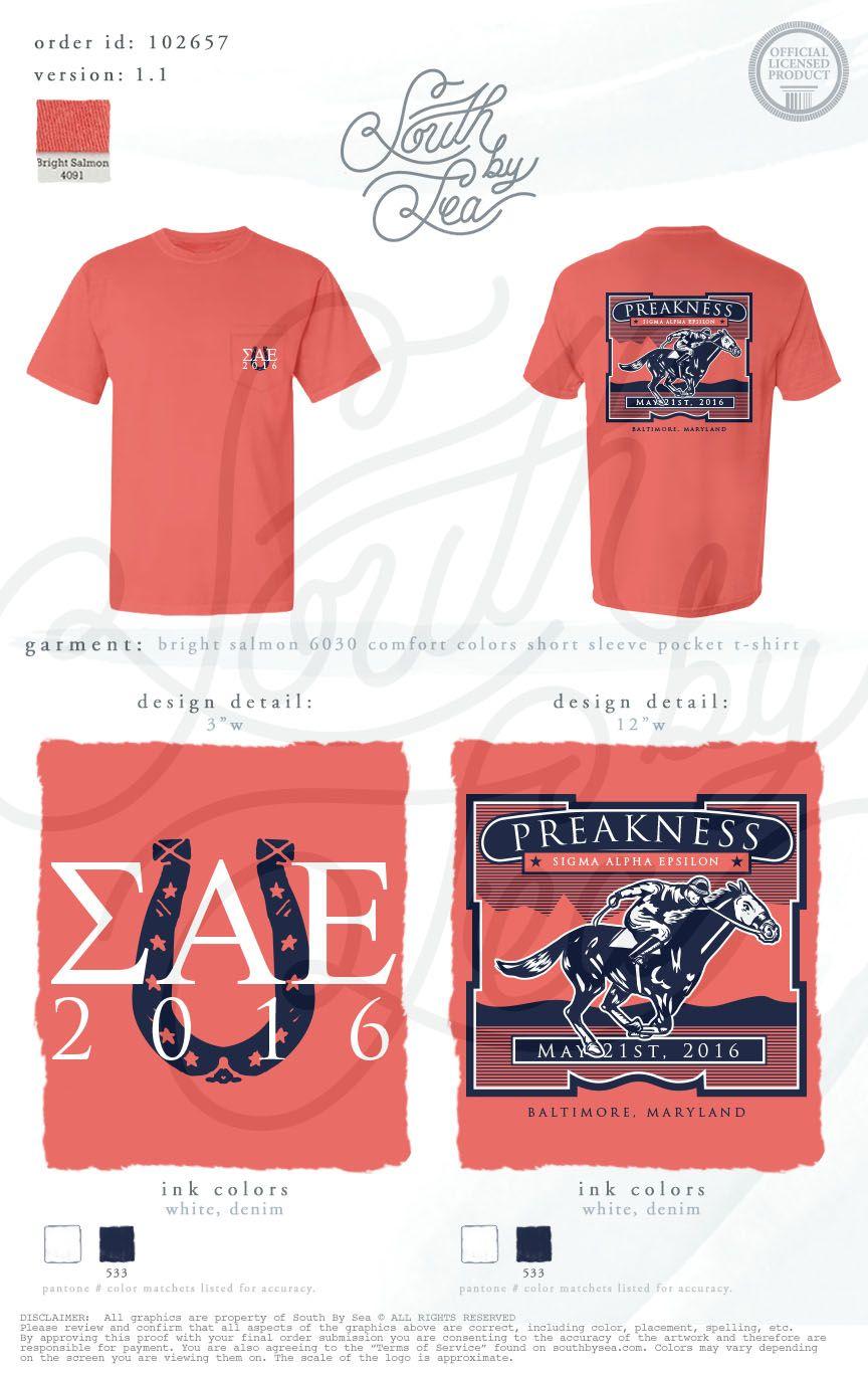 Design a t shirt horse - Sigma Alpha Epsilon Sae Preakness Derby Days Horse Race T Shirt