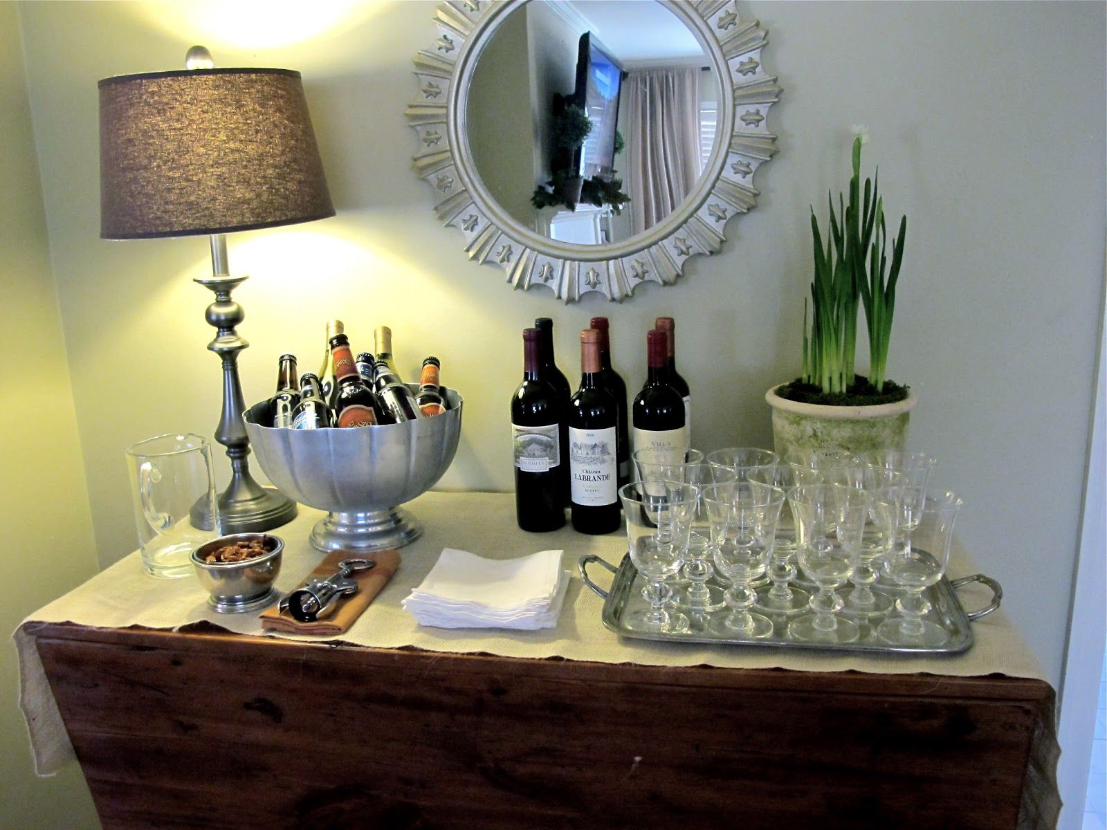 how to set up a wine bar at home | entertaining | how to set up a