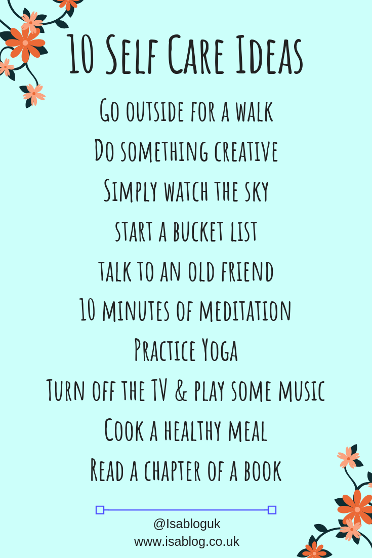 10 Self Care Tips To Help Promote Better Self Care With