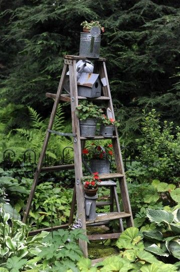 Recycling found objects into garden art