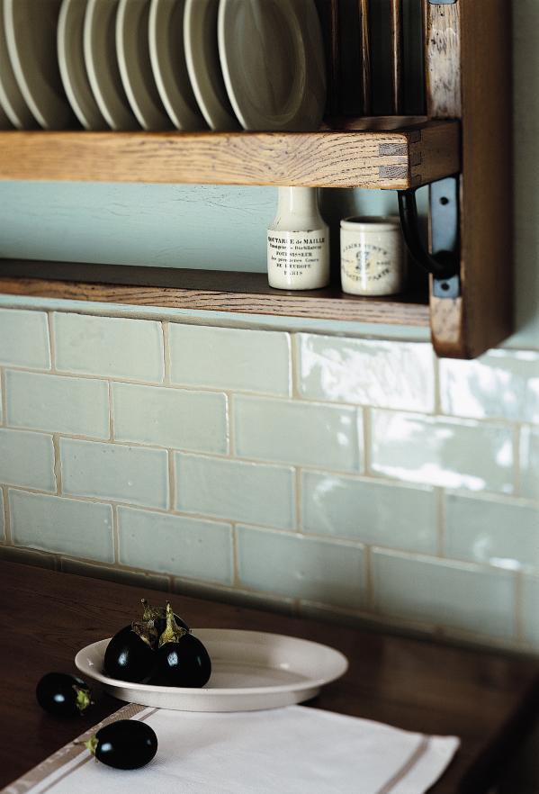 Kitchen Tiles Handmade handmade subway tiles in trending pastel blue | splashbacks
