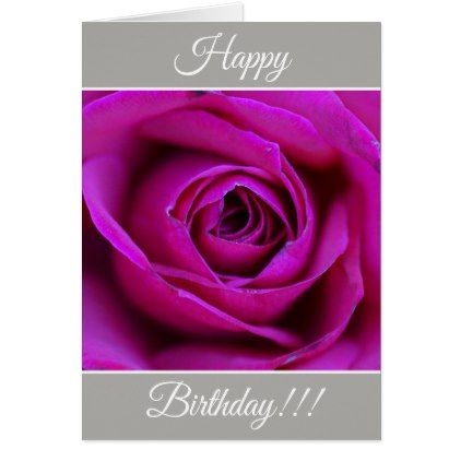 Personalized Happy Birthday Rose Greeting Card Flower Invitation