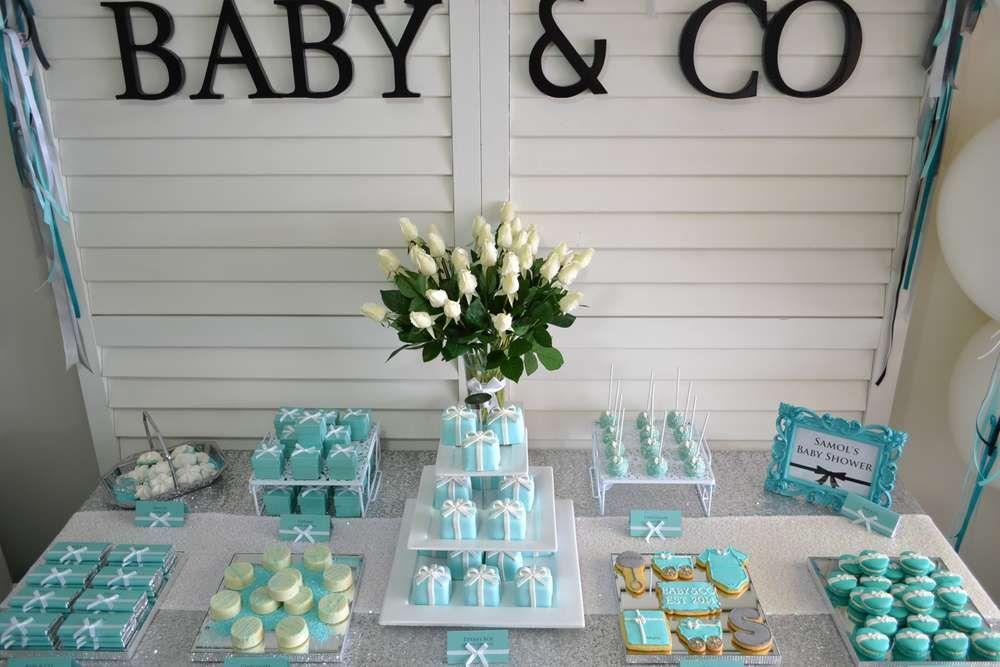 TIFFANY & CO Baby Shower Party Ideas